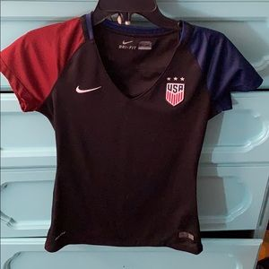 USA Nike women's black soccer Jersey small